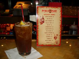 Lemmynade and drink menu at Puka Bar in Long Beach