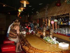 The bar at Puka Bar in Long Beach