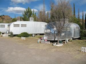 Airstream campers at The Shady Dell in Bisbee