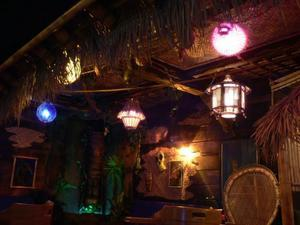 Tiki and decor at Forbidden Island in Alameda