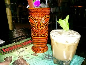 Drinks at Forbidden Island Tiki Lounge in Alameda