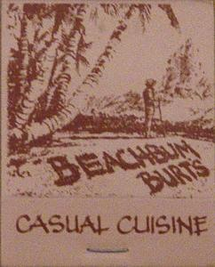 Matchbook from Beachbum Burt's in Redondo Beach
