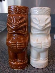 Salt & pepper shakers from Ren Clark's Polynesian Village in Fort Worth