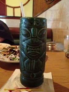Mai Tai in a tiki mug at Lotus Garden in Greenwood