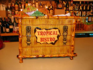 Napkin holder made by Tikiskip for Tropical Bistro in Hilliard