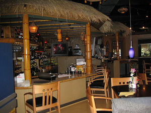 The bar at Tropical Bistro in Hilliard
