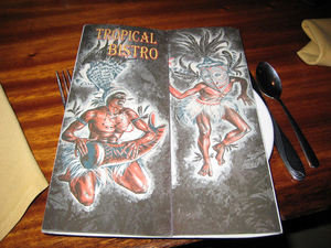 Menu at Tropical Bistro in Hilliard