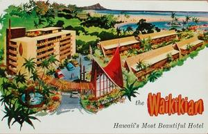 Artist's rendering of the Waikikian Hotel in Waikiki