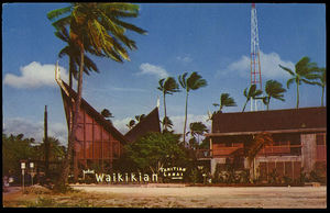Pre-1959 postcard from Waikikian Hotel in Waikiki