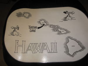 Placemat from Tahitian Lanai and Papeete Bar in Waikiki