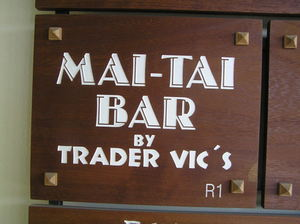 Sign for Trader Vic's Mai Tai Bar in Estepona