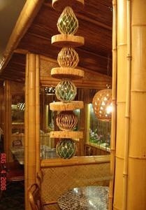 Booths in the tiki room at Young's Cafeteria in Glen Dale