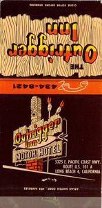 Matchbook from Outrigger Inn Motor Hotel in Long Beach