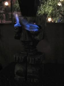The Witco on the back patio with eyes burning at Voodoo Room in Los Angeles