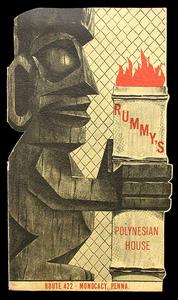 Cover of menu from Rummy's Polynesian House in Monocacy