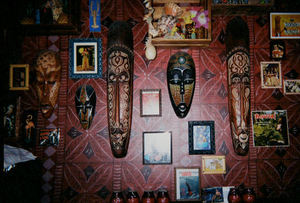 Decor at Tiki's Bar & Grill in Rotterdam