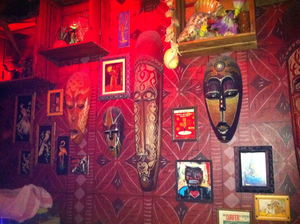 Wall decor at Tiki's Bar & Grill in Rotterdam