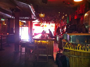 The bar at Tiki's Bar & Grill in Rotterdam