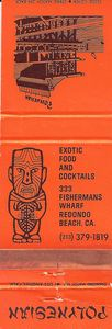 Matchbook from Polynesian in Redondo Beach