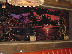 Black velvet art by Pander Brothers at Thatch in Portland