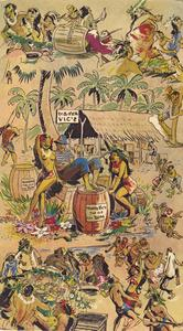 Menu cover from Trader Vic's in Atlanta
