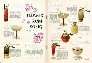 July 1959 Gourmet Magazine spread, featuring rum drinks from Trader Vic's in Atlanta