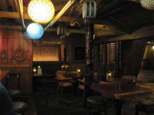 Seating in the bar at Trader Vic's in Atlanta