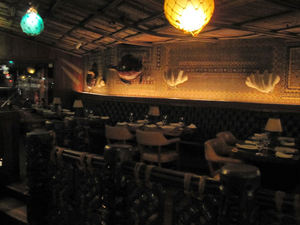 Dining area near the bar at Trader Vic's in Atlanta