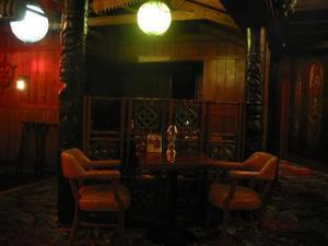 Seating in bar at Trader Vic's in Atlanta