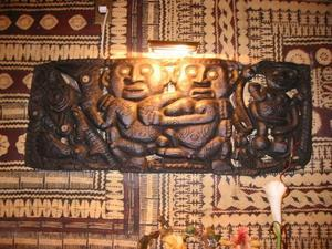 Carved panel at Trader Vic's in Atlanta
