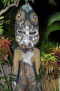 Tiki in the gardens at Mai-Kai in Ft. Lauderdale