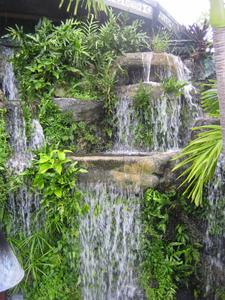 Waterfall in the gardens at Mai-Kai in Ft. Lauderdale