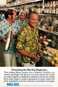 Original head mixologist Mariano Licudine from calendar for Mai-Kai in Ft. Lauderdale