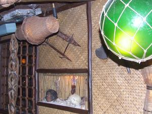 Decor, including shrunken head, at Mai-Kai in Ft. Lauderdale