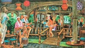 Artist's rendering of the Molokai Lounge at Mai-Kai in Ft. Lauderdale