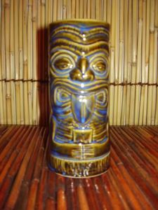 Souvenir tiki mug that comes with the Mara-Amu drink at Mai-Kai in Ft. Lauderdale