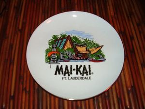 Souvenir plate from the gift shop at Mai-Kai in Ft. Lauderdale