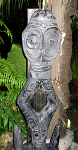 Tiki in the gardens at the Mai-Kai