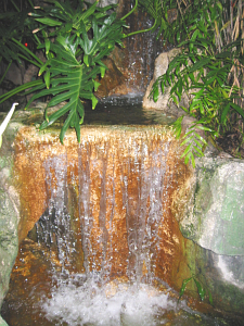 Waterfall in the gardens at the Mai-Kai
