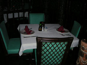 The new chairs in the Molokai Bar at Mai-Kai in Fort Lauderdale