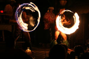 Fire dancers at Mai-Kai in Fort Lauderdale