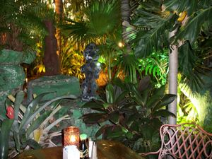 Garden seating at Mai-Kai in Fort Lauderdale