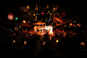 Main dining room and stage at Mai-Kai in Fort Lauderdale