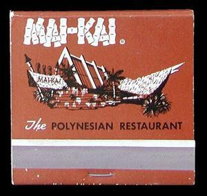 Matchbook from the Mai-Kai