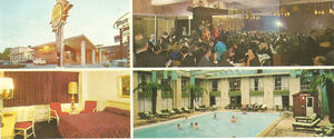 Photo of postcard from Town House Motel with an interior view of Aku Aku in Toledo