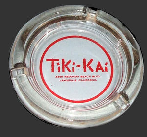 Ashtray from Tiki Kai in Lawndale
