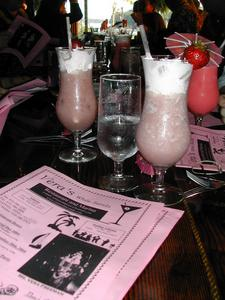 Mystery drinks and drink menu at Vera's White Sands Beach Club in Lusby