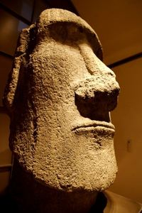 Moai removed from Cook's Bay, Easter Island in 1872, now at Mus�e du Quai Branly in Paris