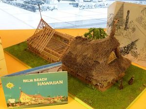 Scale model in the Tiki Pop exhibit at Mus�e du Quai Branly in Paris