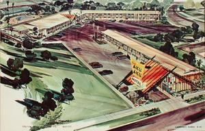 Artist's rendering of The Aku Aku Motel in Woodland Hills